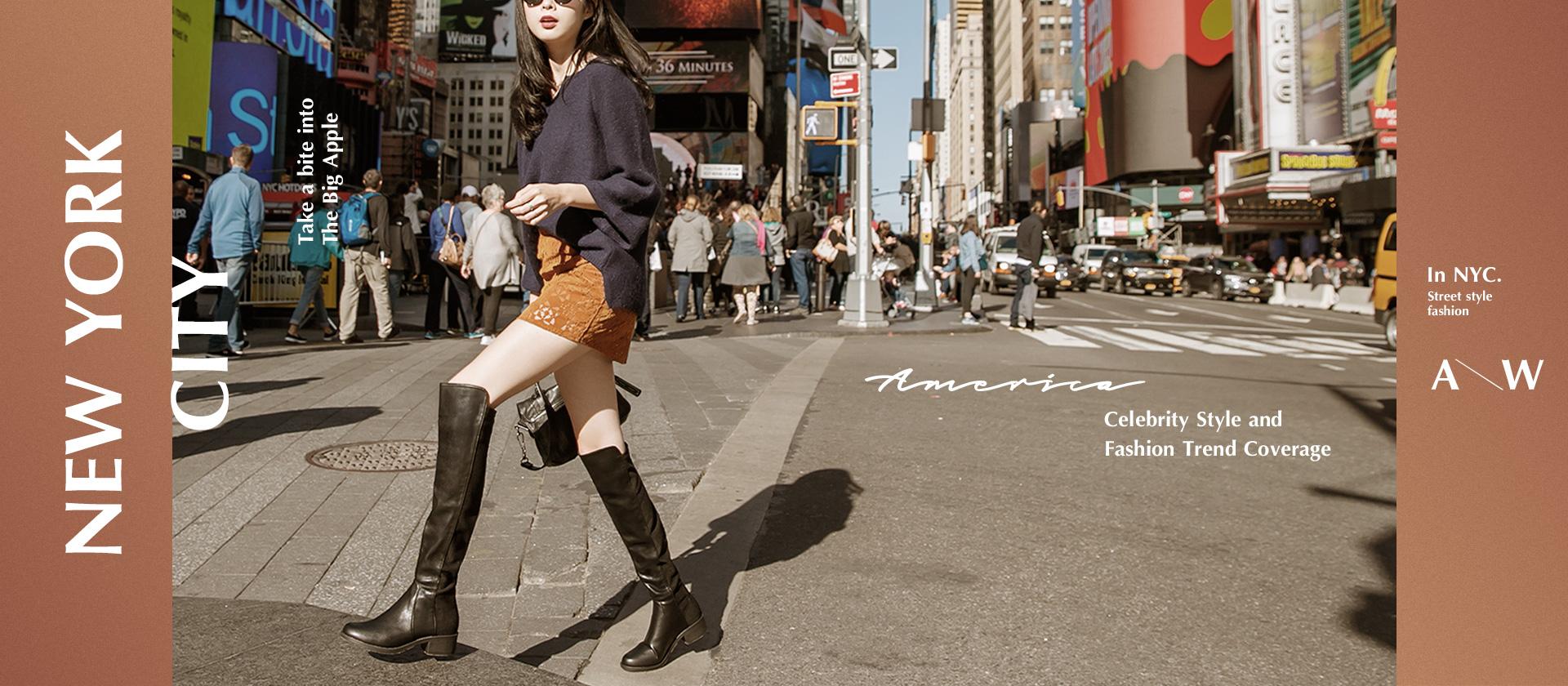 人氣TOP50NYC紐約拍攝秋冬新款長靴