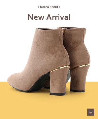 素面美型鍍金跟短靴