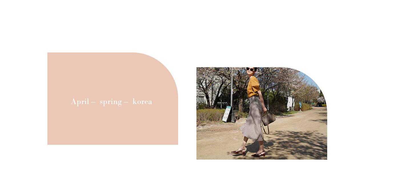 韓國首爾賞櫻特輯 尖頭細帶後空中跟鞋