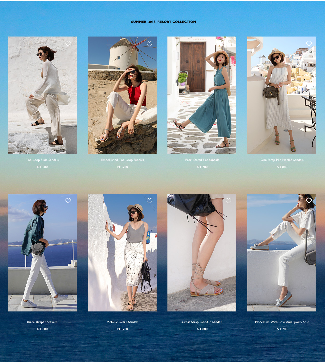 D+AF夏日希臘拍攝特輯涼鞋拖鞋休閒鞋健走鞋穿搭