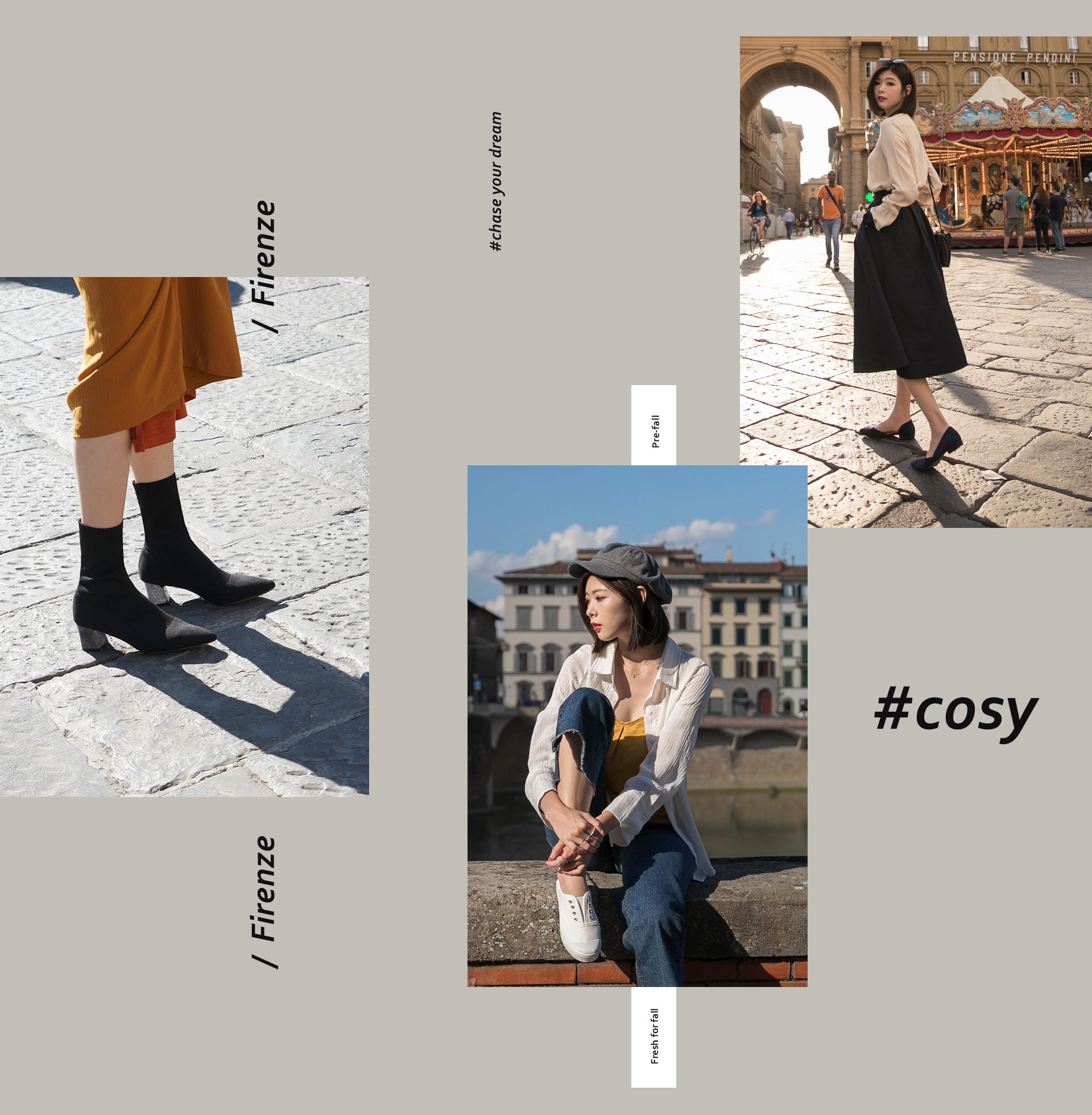 D+AF 秋冬女鞋靴義大利拍攝特輯-短靴 低跟鞋 休閒鞋