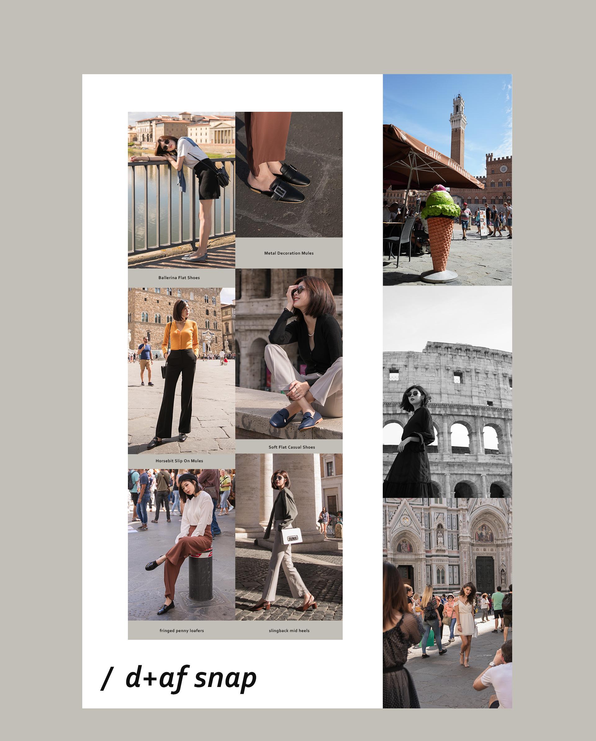 D+AF 秋冬女鞋靴義大利拍攝特輯-樂福鞋 低跟鞋 穆勒鞋 娃娃鞋