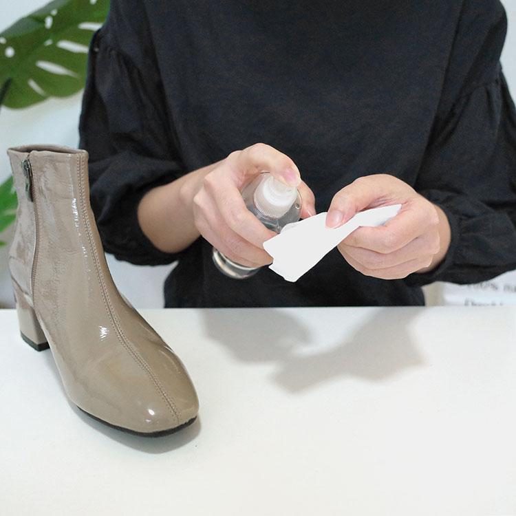 D+AF漆皮鞋面清潔教學步驟