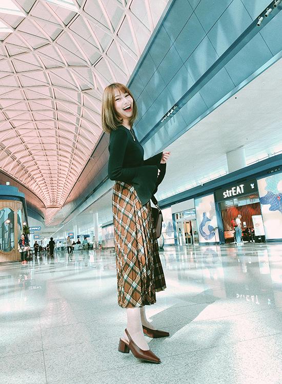 D+AF 韓系風尚.素面微尖頭後空中跟鞋