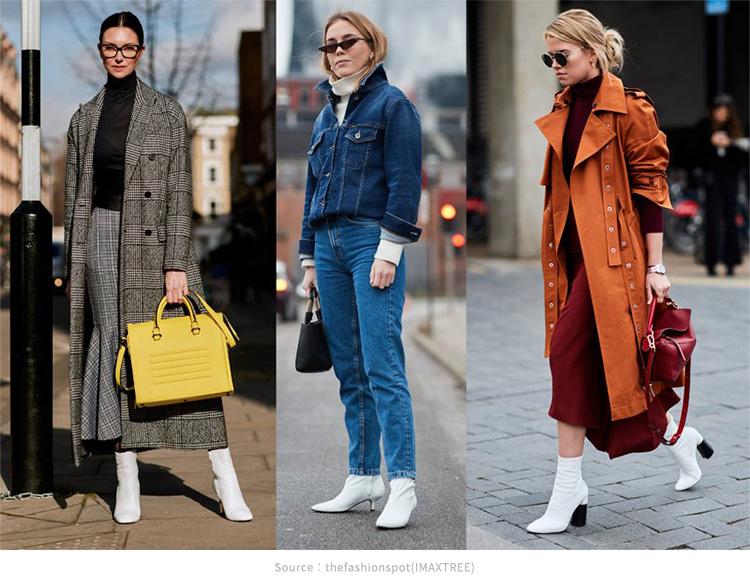 紐約街頭穿搭小白靴