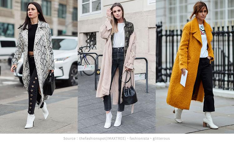 紐約街頭穿搭小白靴 大衣,風衣1
