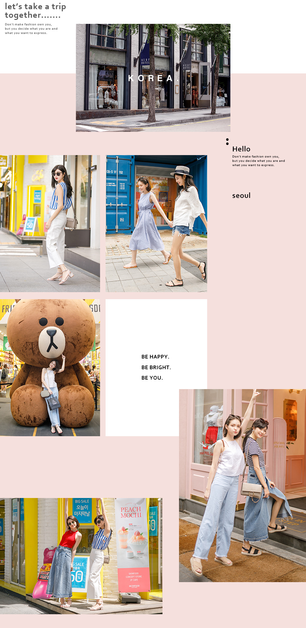 韓國拍攝特輯,姊妹穿搭,涼鞋,拖鞋