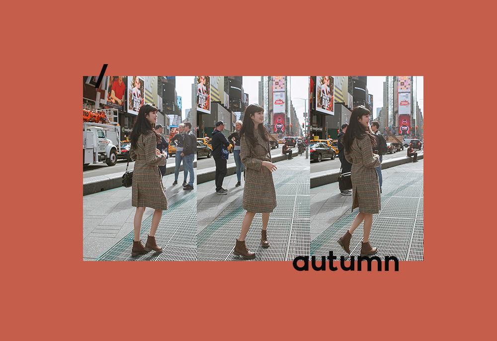 D+AF紐約拍攝復古雕花綁帶牛津短靴