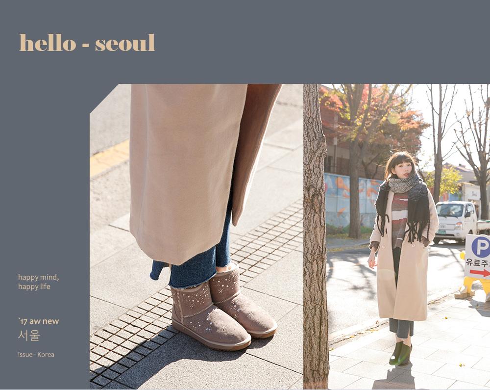 D+AF韓國首爾拍攝特輯秋冬雪靴短靴