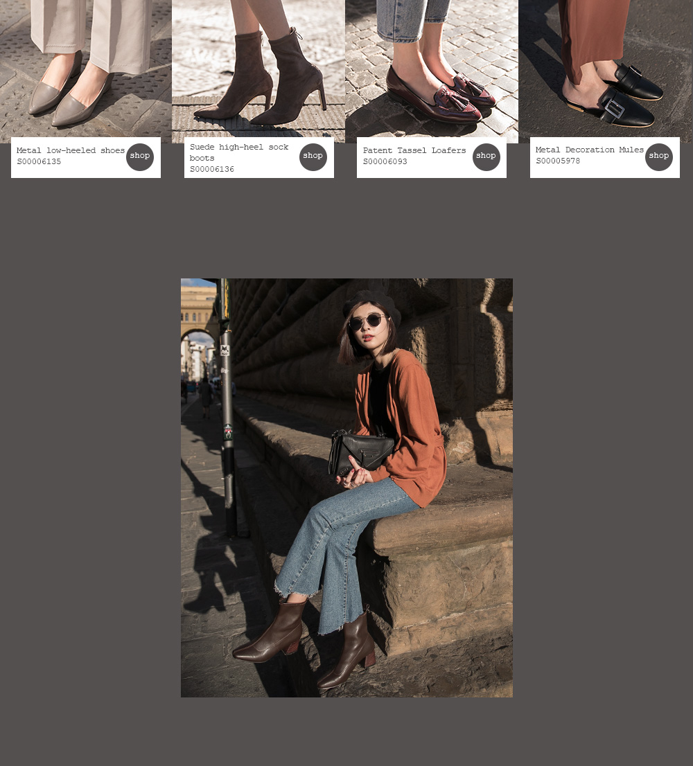 D+AF 秋冬女鞋靴義大利拍攝特輯 低跟鞋 短靴 樂福鞋 穆勒鞋