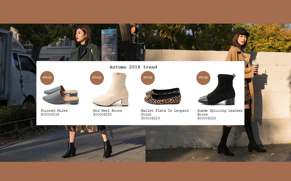 D+AF 韓國拍攝特輯 秋冬鞋款 短靴 穆勒鞋 娃娃鞋