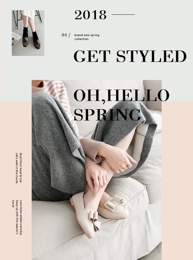 春季新款女鞋好穿好走樂福鞋