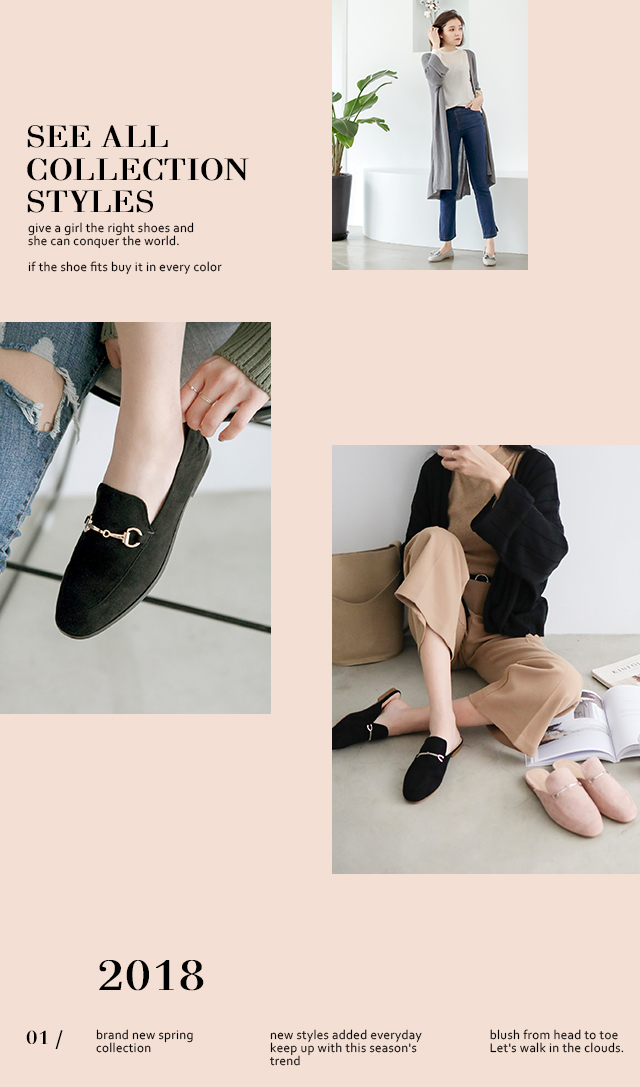 D+AF 2018春季新款女鞋娃娃鞋紳士樂福鞋樂福拖鞋