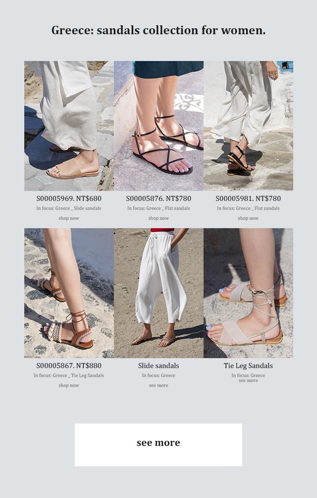 夏季新款涼鞋女鞋希臘拍攝特輯