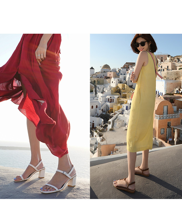 D+AF夏日涼鞋女鞋希臘拍攝